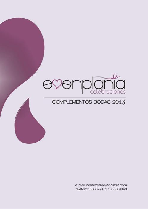 Catalogo_Evenplania_Complementos_Boda_2013