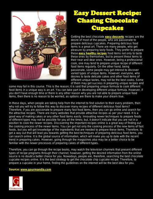 Easy Dessert Recipe: Chasing Chocolate Cupcakes