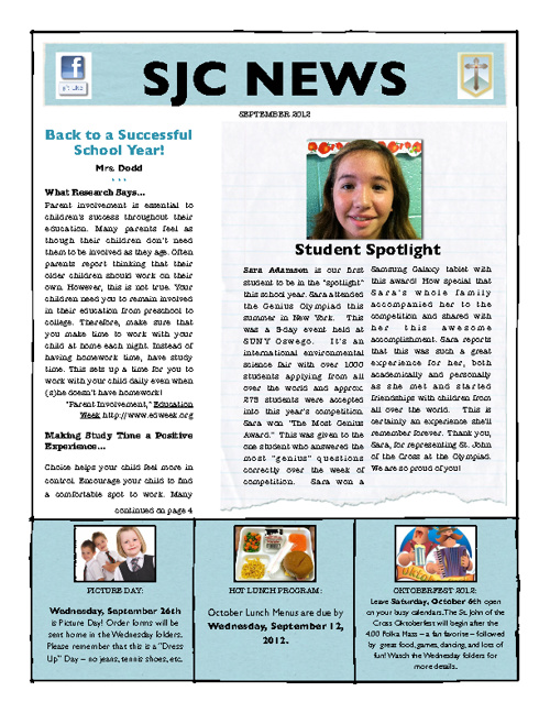 SJC September Newsletter
