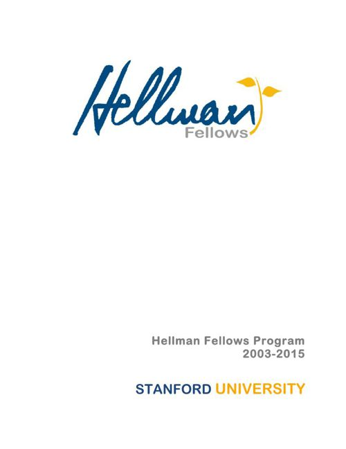 2015 Stanford awardees booklet
