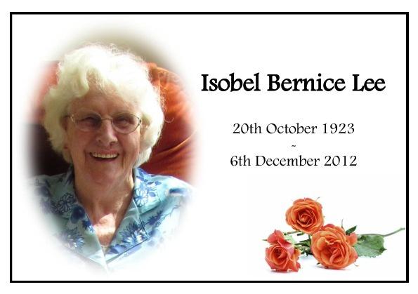 Isobel Lee