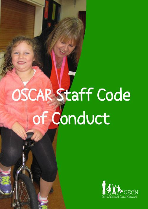 Code of conduct booklet - SAMPLE