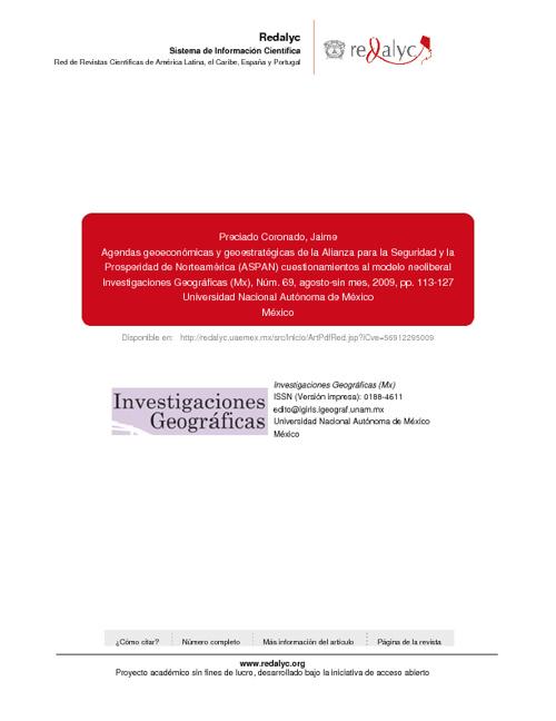 Agendas geoeconómicas y geoestratégicas