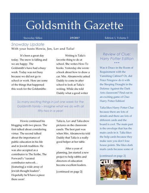 Goldsmith Gazette Feb 2017 FINAL