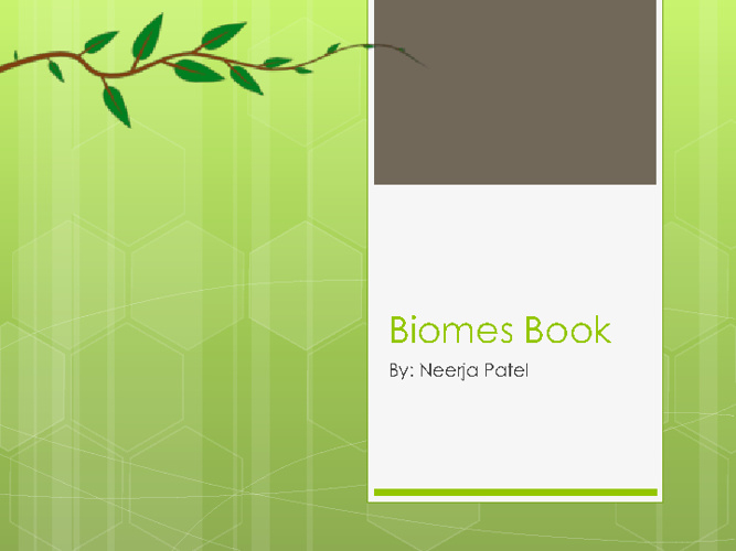 Neerja's Biome Book