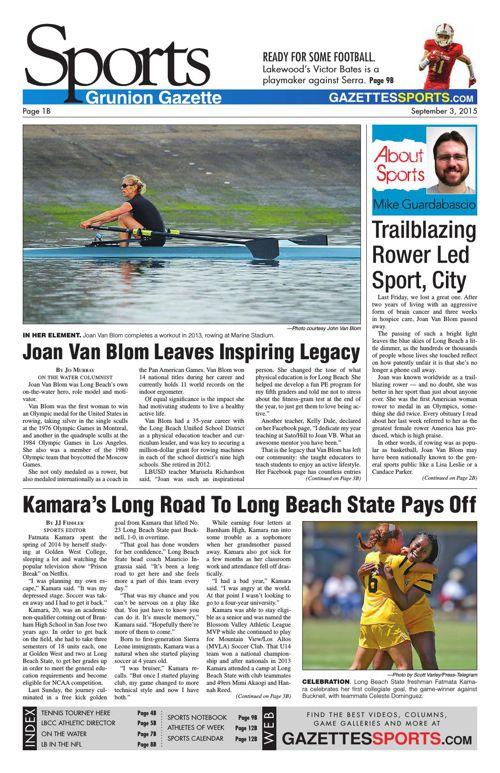 Gazette Sports | September 3, 2015