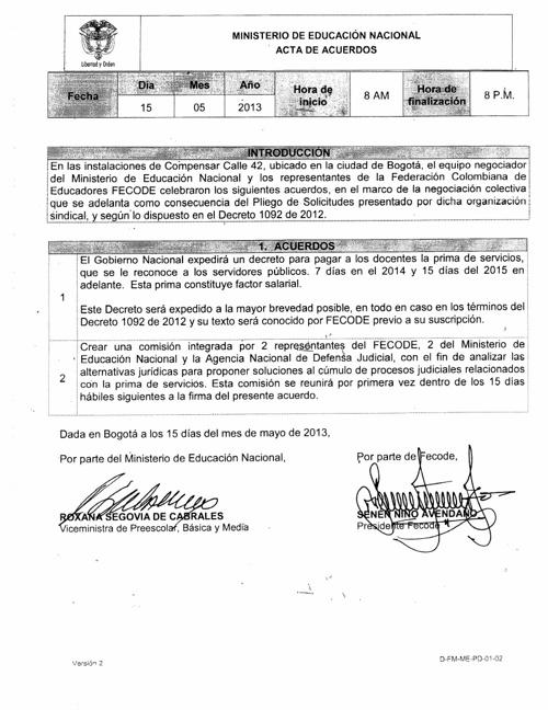 Acta de acuerdos 15 de mayo
