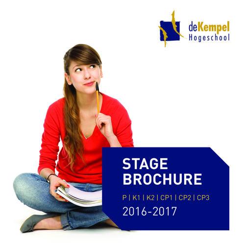 Stagebrochure 2016-2017 P t/m K2