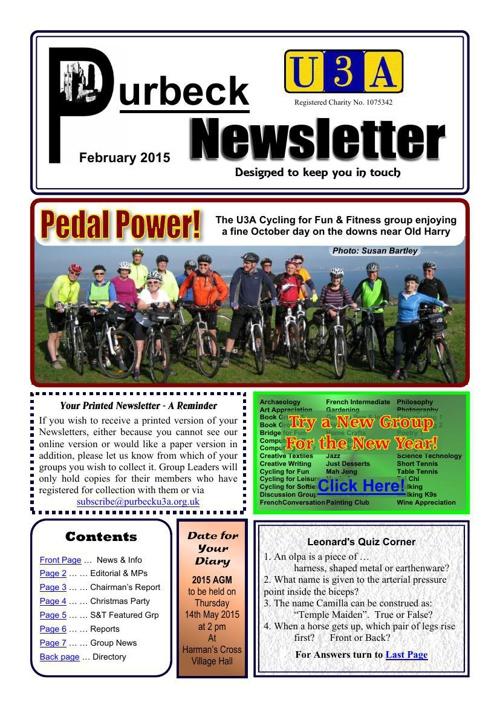 Newsletter 2015-02