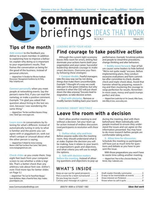 Communication Briefings