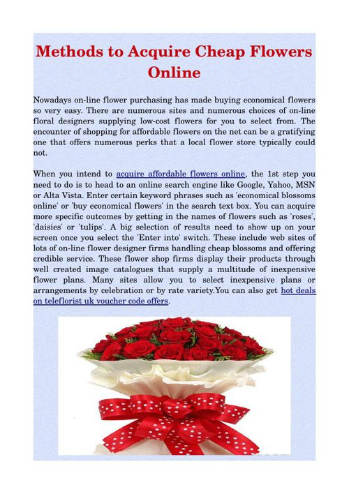 Methods to Acquire Cheap Flowers Online