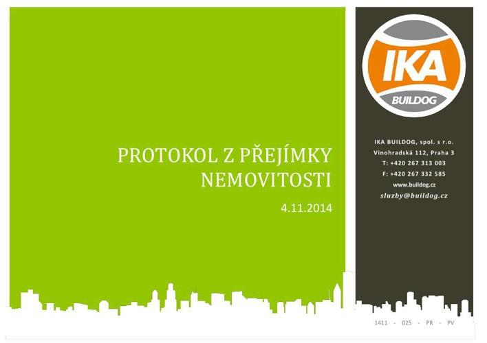 Ukázka protokolu z přejímky nemovitosti | IKA BUILDOG, s.r.o.