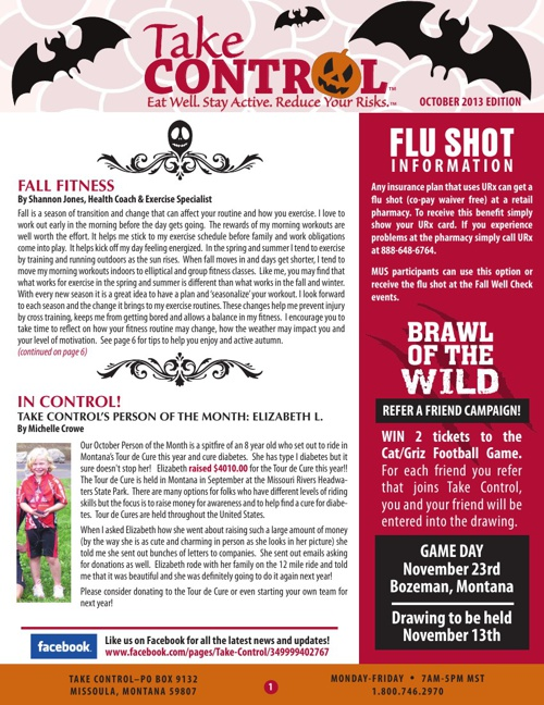 Take Control October Newsletter 2013