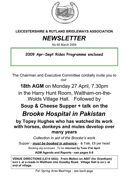 2009 Newsletters