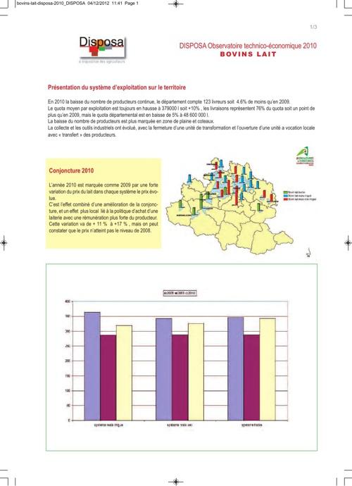 Observatoire économique 2010