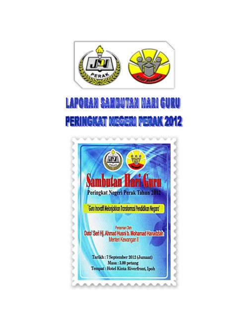 Laporan Sambutan Hari Guru Negeri Perak 2012