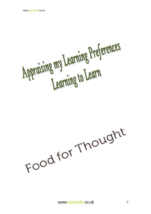 Appraising My Learning Preferences