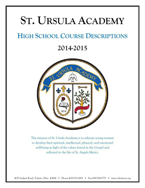 2014-2015 High School Course Descriptions
