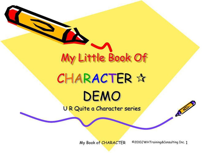 BOOK U R Quite a Character 1