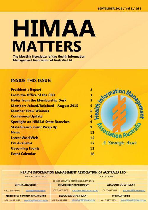 HIMAA Matters - September 2015