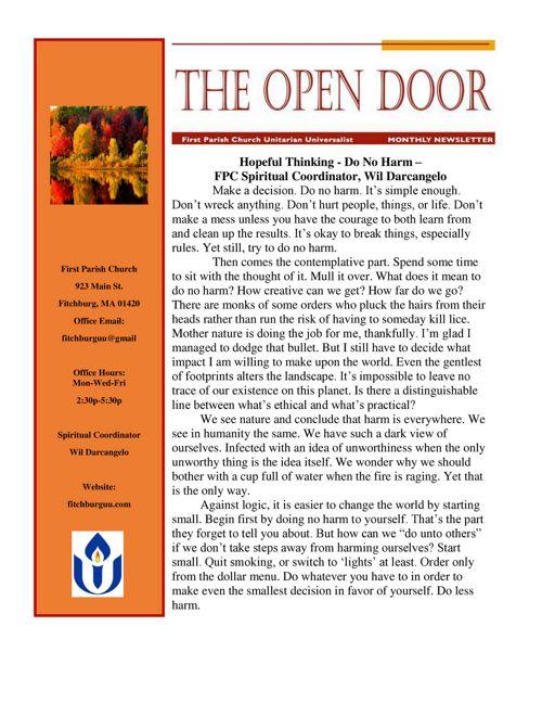 October Open Door