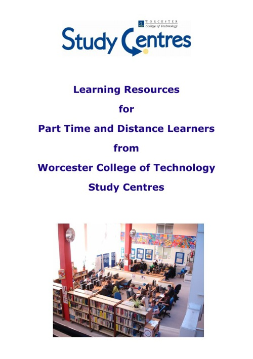 Learning Resources for Distance & Part-time Learners and Staff