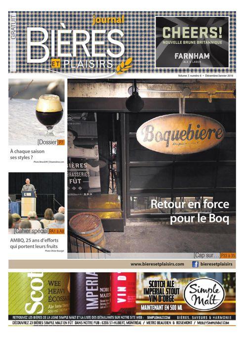 Bières et Plaisirs - Volume 7 Numéro 6 - Décembre 2015