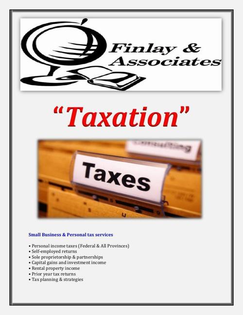 Finlay Associates: Taxation