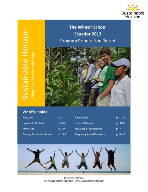 Ecuador Program Preparation