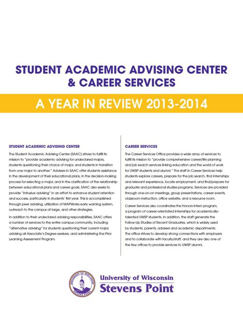 SAAC & Career Services Annual Report