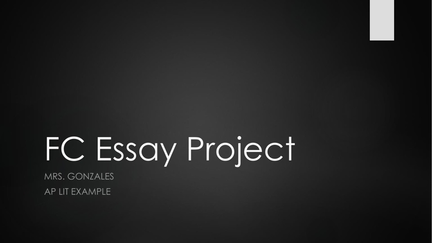 Free Choice Essay--Project