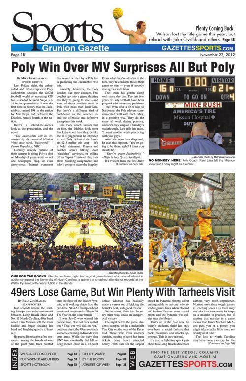 Gazette Sports   November 22, 2012
