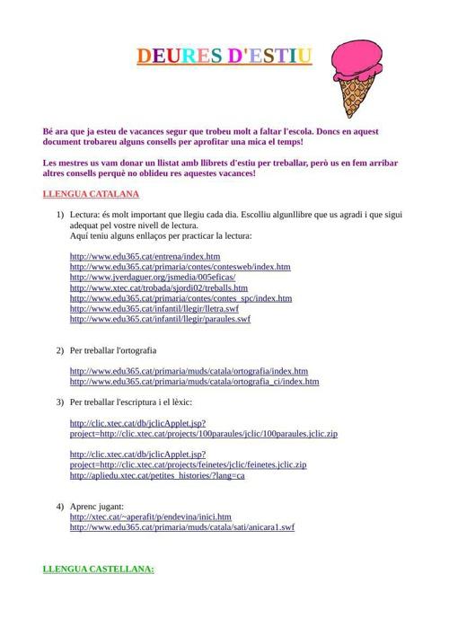 recomanacions webs estiu
