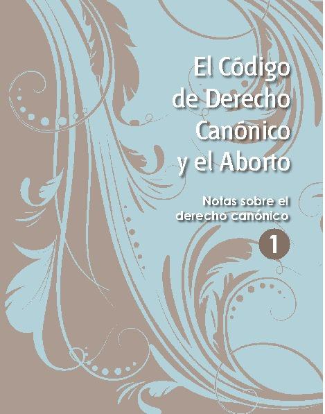 27pg: Código derecho canónico y aborto