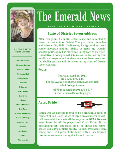 The Emerald News: Volume 3, Issue 4 (April 2011)
