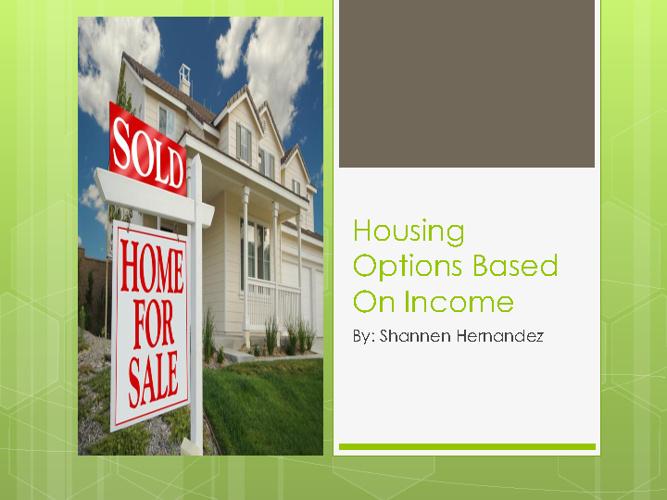 Home Owenership and Income