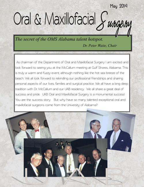 Oral and Maxillofacial Surgery Department - Spring 2014-