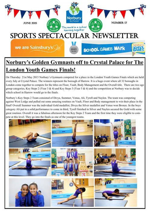 Sports Newsletter Number 17