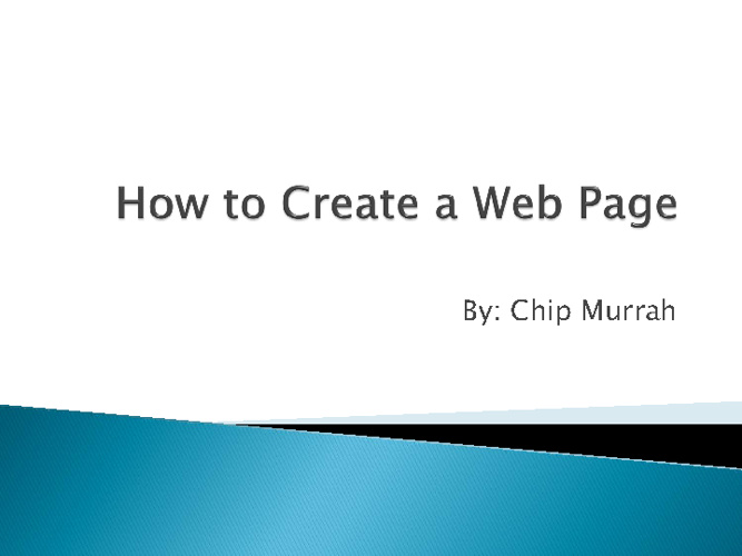 How to create a website in MS WORD