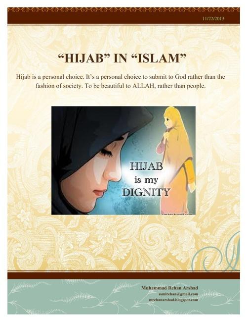 """""""HIJAB"""" IN ISLAM"""