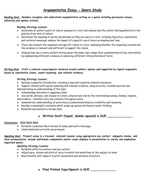 Sample Unit Overviews