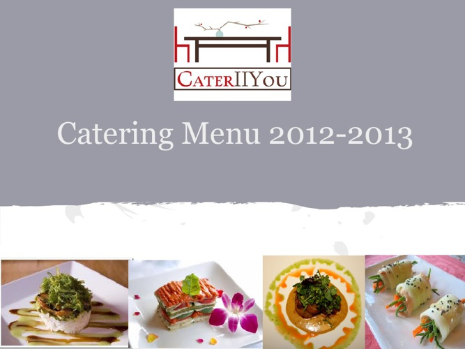 Cater II You Menu