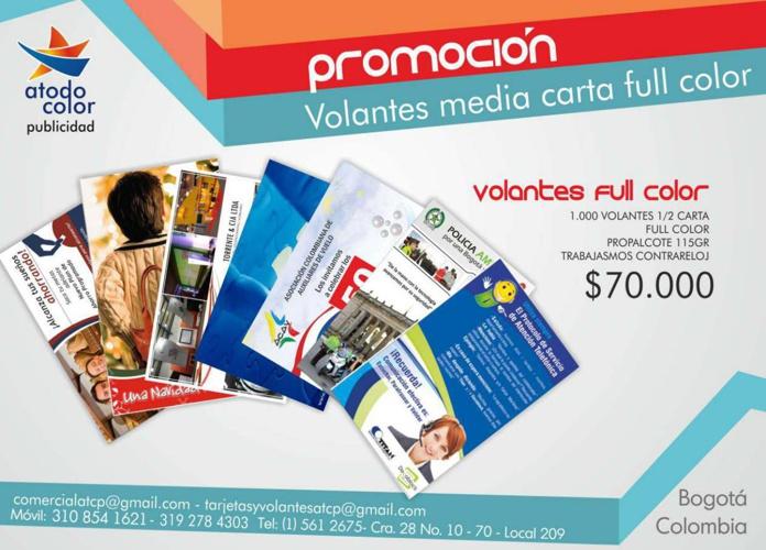 CATALOGO PRODUCTOS A TODO COLOR PUBLICIDAD
