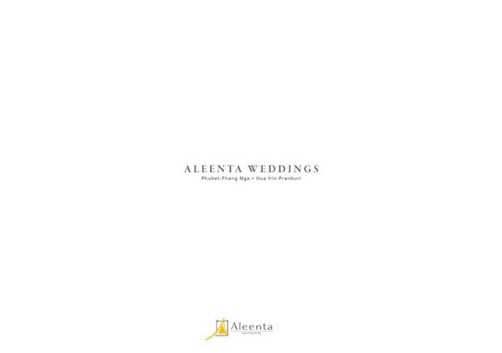 Aleenta Weddings Hua Hin