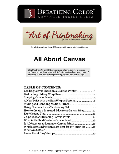 All About Canvas