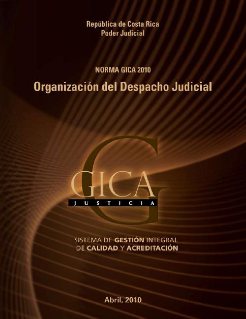 Norma GICA-Justicia