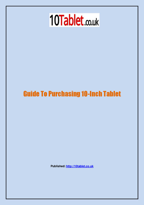 10Tablet-Android Tablet