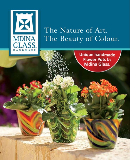 Mdina Glass - Brochure (Flower Pots)