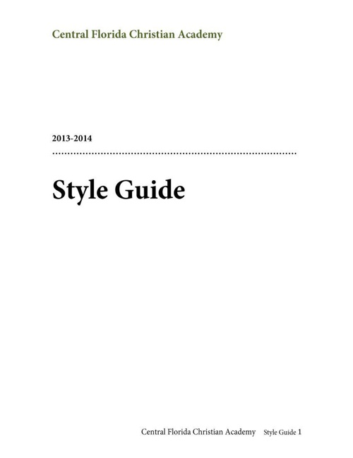 CFCA Style Guide 13-14 revised