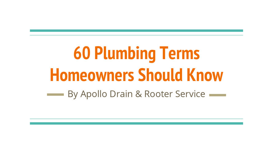 60 Plumbing Terms Homeowners Should Know